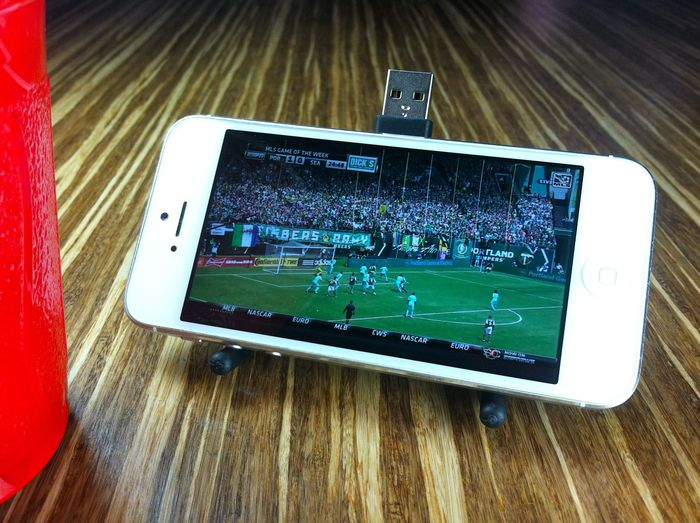 Widescreen mode: watch the Timbers match