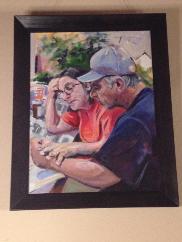 Painting by local artist Allen Schwartz. Paintings and prints by Allen are available to those contributing $500 or more.