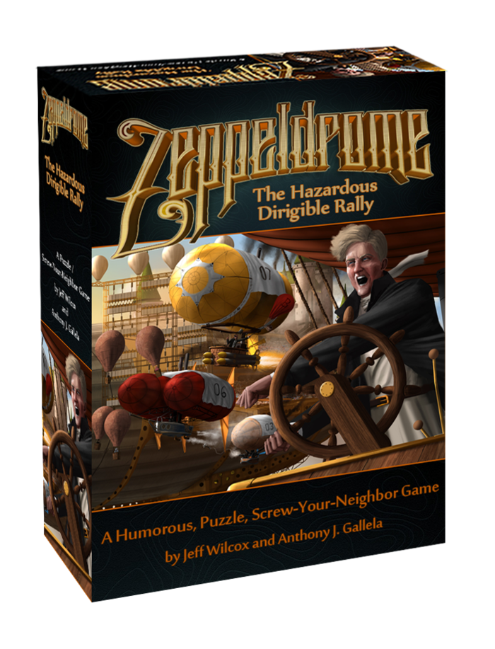 """""""Zeppeldrome"""" will be $35 MSRP if we just have tokens in the game, $39 if we have 3D bits. We're offering it to you, our backers, for $29."""