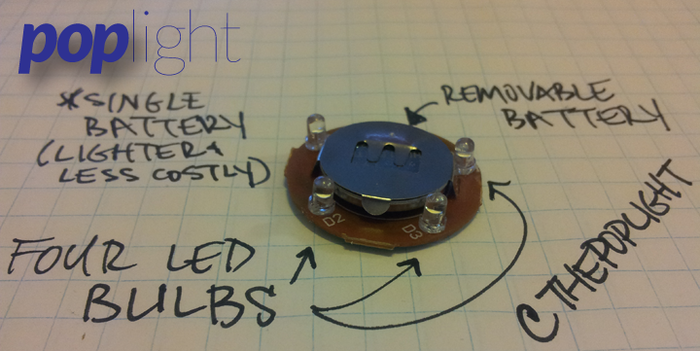 Four LEDs, and a Replaceable Battery