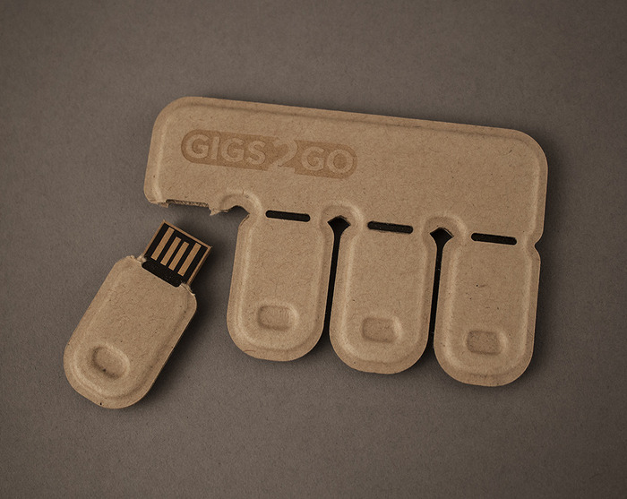 Each tab is a USB thumb drive, and the entire pack is no larger than a credit card