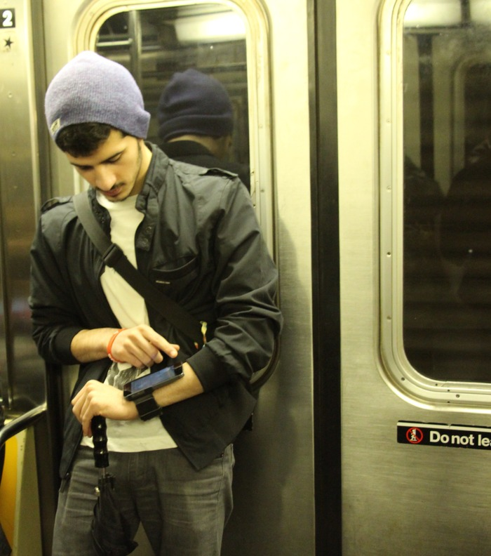 Smartlet takes a ride on the subway