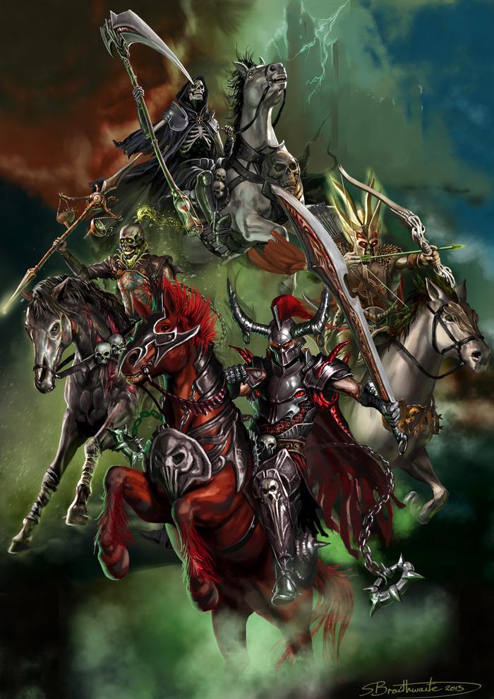 All Four Horsemen of the Apocalypse!