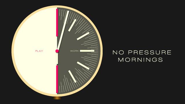 No pressure mornings