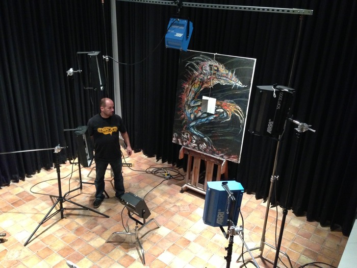 Photographing the paintings