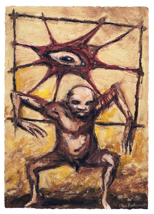 """""""The Believer""""  Oil on paper."""