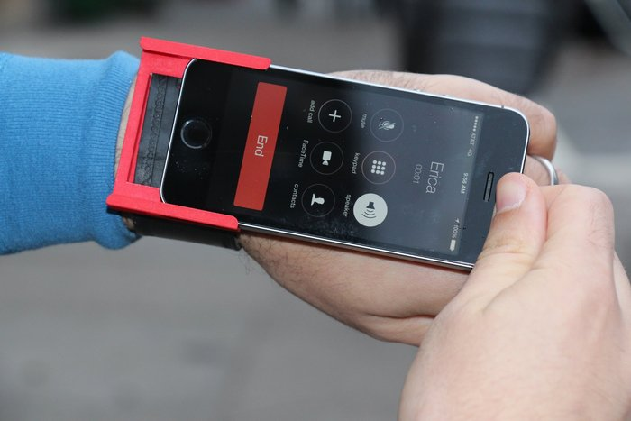 Simply slide out your iPhone to use it