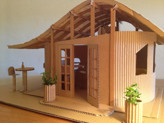Scale model of The WinePort tasting room. Now we're ready to build!