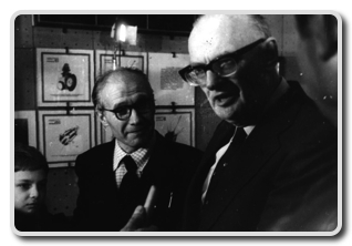 Yuri Artsutanov with Arthur Clarke