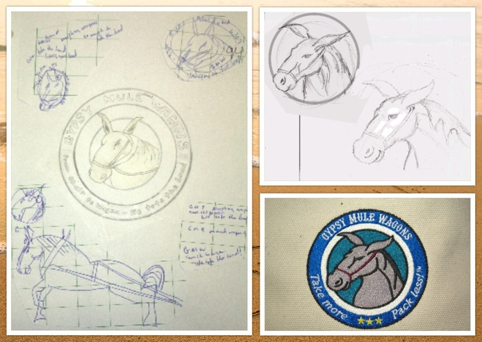 The progression of the final logo!