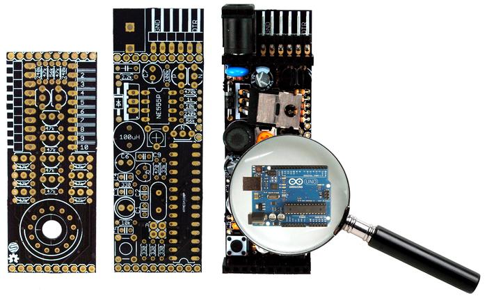 Arduino Uno compatible hardware built-in