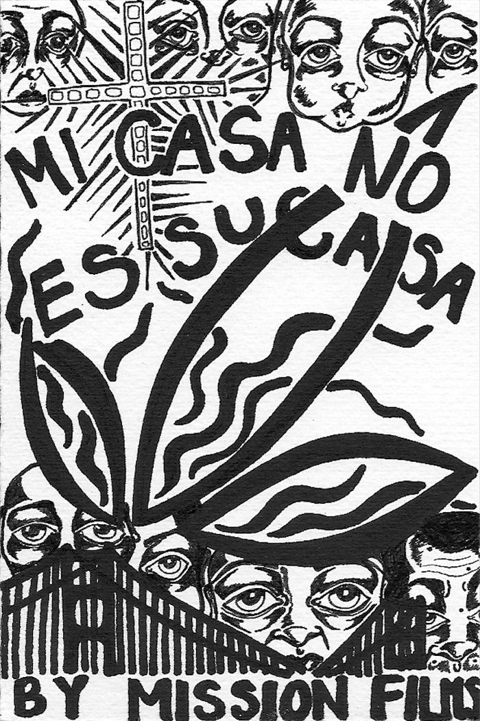 Backer Gift- Mi Casa No Es Su Casa art print by local SF artist Kristin Jensen