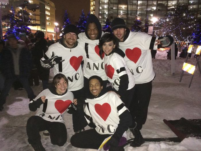 After our performance for Anchorage's New Year's Eve Fire and Ice Celebration
