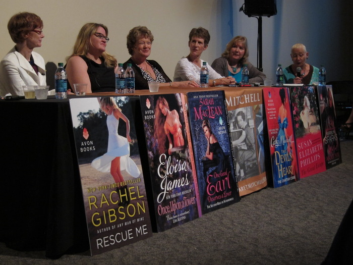 a panel of Avon's authors at the Margaret Mitchell house in Atlanta