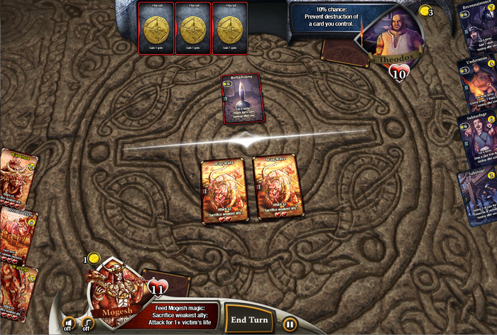 Mogesh sends two horrifying War Rats against Theodox.