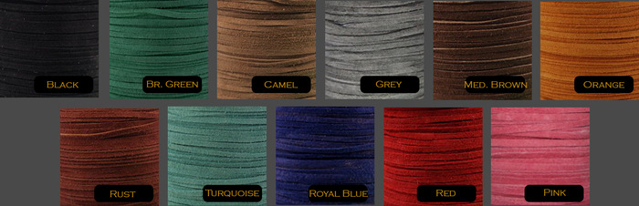 Leather Cord Color Choices