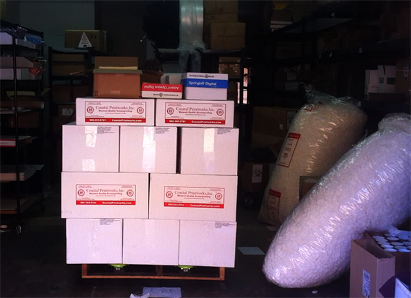 Physical rewards arriving at FanGamer HQ in Tucson, Arizona