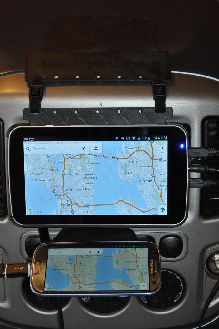 CarSkreen Navigation Screen - Samsung S3