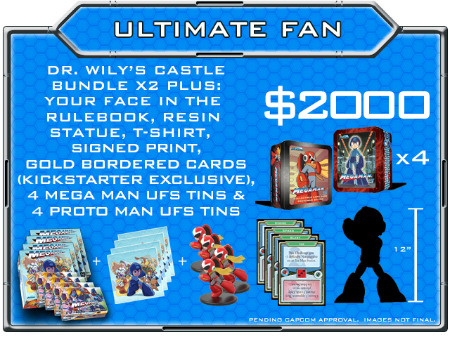 NOTE: The Mega Man Ultimate Fan pledge level receives 4x ALL unlocked BONUS stretch goals!
