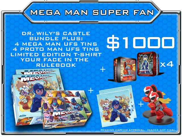 NOTE: The Mega Man Super Fan pledge level receives 2x ALL unlocked BONUS stretch goals!