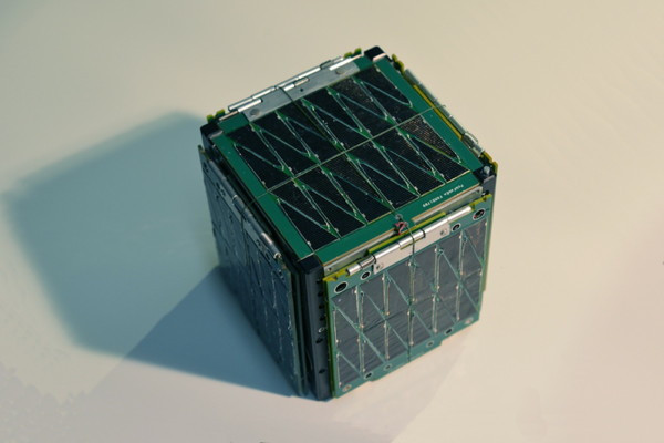 SkyCube in packed-for-launch configuration - typical view.