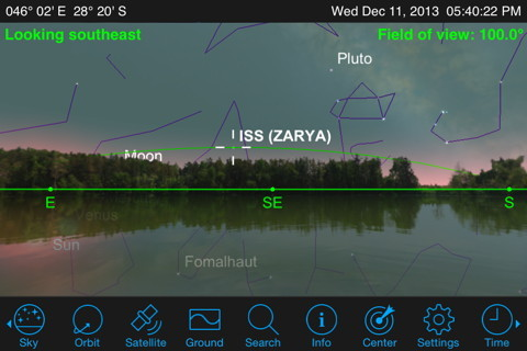 Tilt your phone up at the sky to use its compass for finding ISS