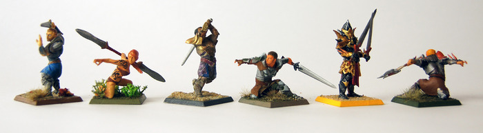 3D printed plastics are easy to paint, too! Here are a few minis we designed, 3D printed, and painted ourselves. Click for video!
