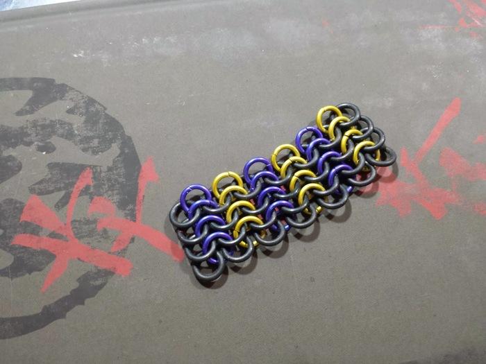 Straight Purple / Yellow Straight + Black Rubber