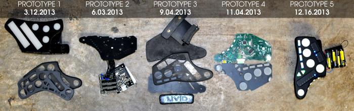 Guitar Wing Prototype Evolution