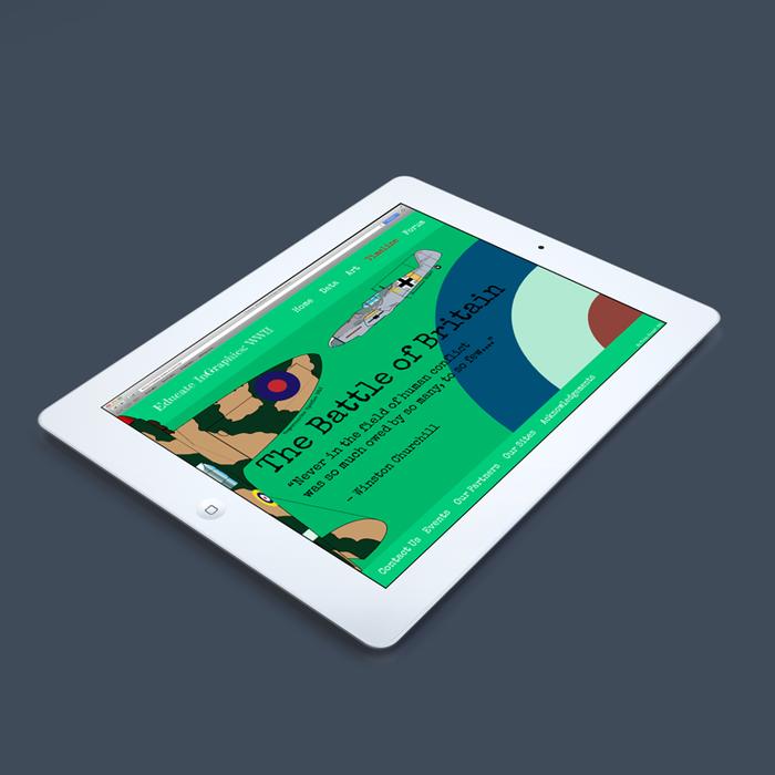 Home Page Mock Up on Apple Ipad