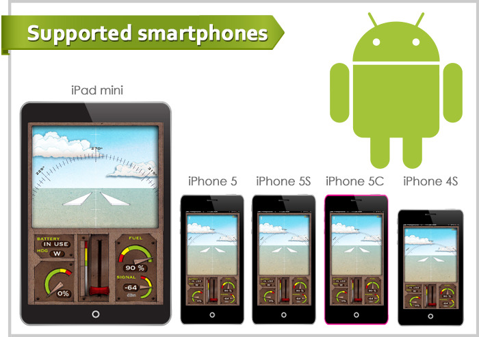 iOS and Android 4.3 or higher