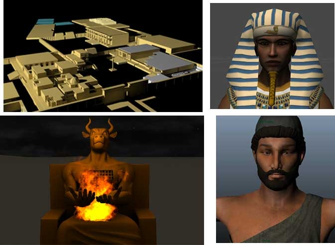 Memphis Egypt under construction, a couple of characters, and a Canaanite shrine!