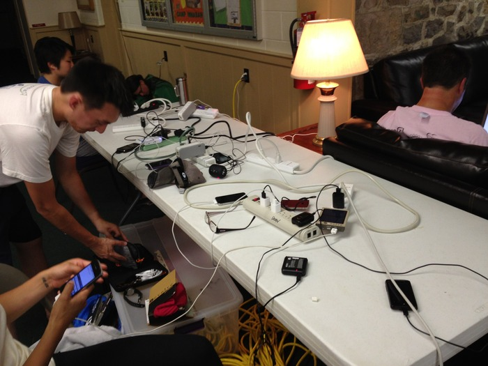 Without the Solarpad Kit, people had to search for available wall sockets before going to bed!