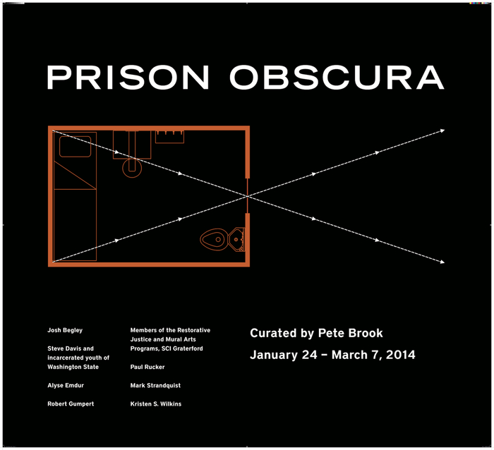 Graphic design for Prison Obscura by Ellen Gould.