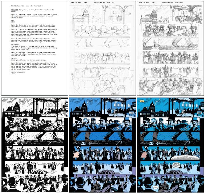 The Making Of: Issue #01 step by step