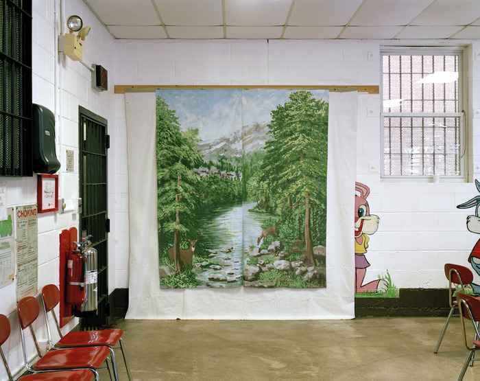 Alyse Emdur. Anonymous Backdrop Painted in Woodbourne Correctional Facility, New York. From the series 'Prison Landcapes' (2005- 2011)