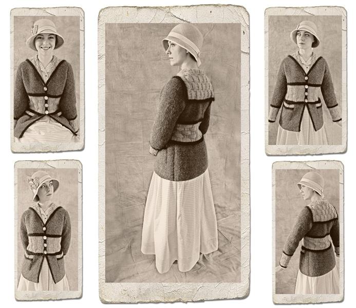 1917 cardigan knitted by volunteer Sheila Cunnea