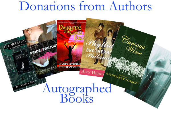 Various contributors to the book have donated autographed copies of their books as rewards! See the listing of what's available in the righthand sidebar and at what levels, as these are in limited quantities.