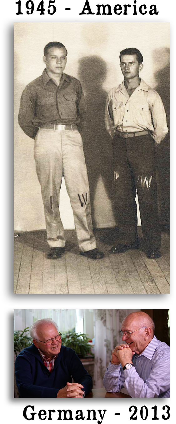 Pictures of Kurt and Paul. At only 17 years old they were captured at Normandy and imprisoned together in northern Utah, they have remained friends for almost 70 years.