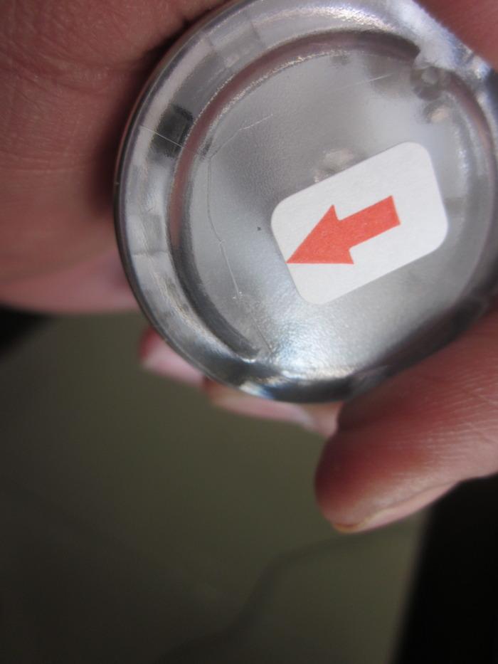 Crack on lid