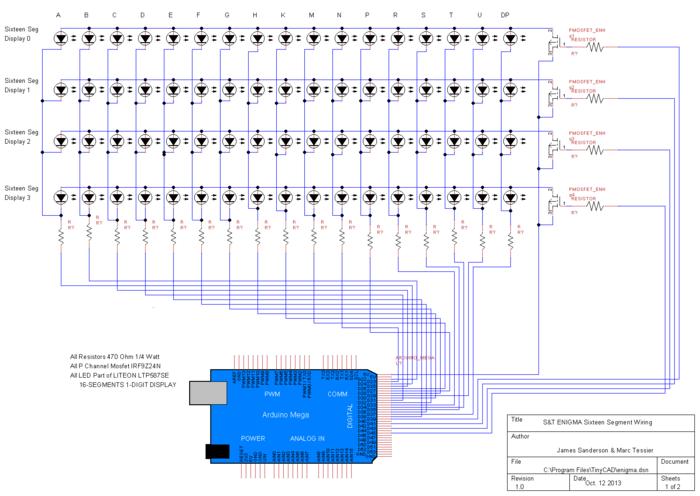 16Segment Display Schematic