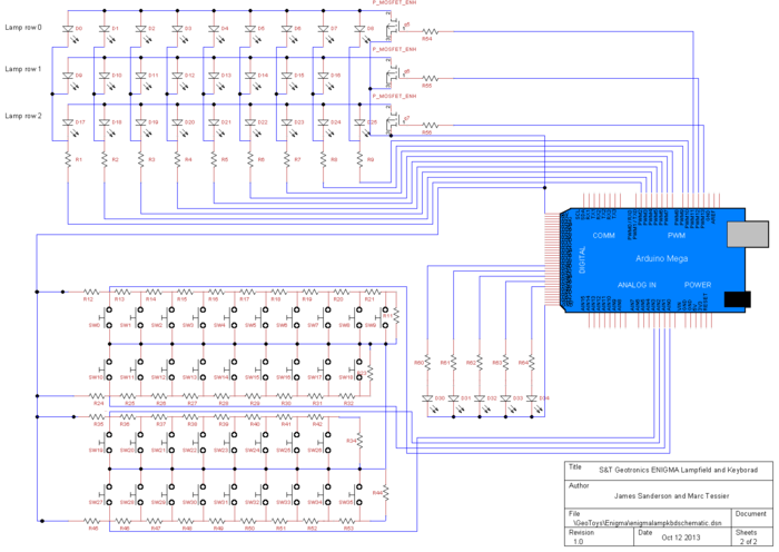 Lamp & Keyboard schematic