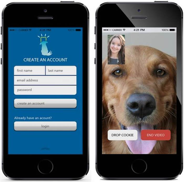 iCPooch app for Android or IOS