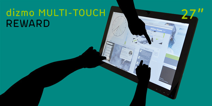 """dizmo space and 27"""" multi-touch display available as a bundle"""