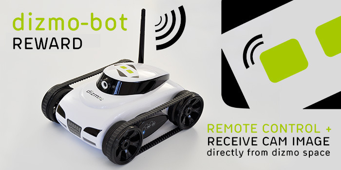 Get ultimate control over our office mascot: dizmo-bot on the run
