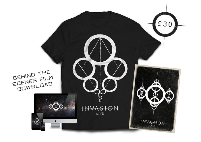 £30 - EXCLUSIVE T-SHIRT PACKAGE - You will receive the exclusive Invasion:Live T-Shirt and all previous perks.