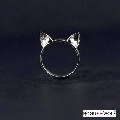 "Engraved ""Katpack"" Cat Ear Ring courtesy of R+W"