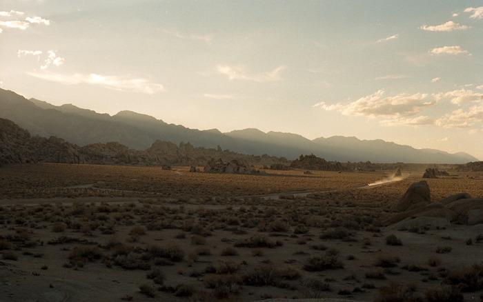 Riding around Lone Pine, California