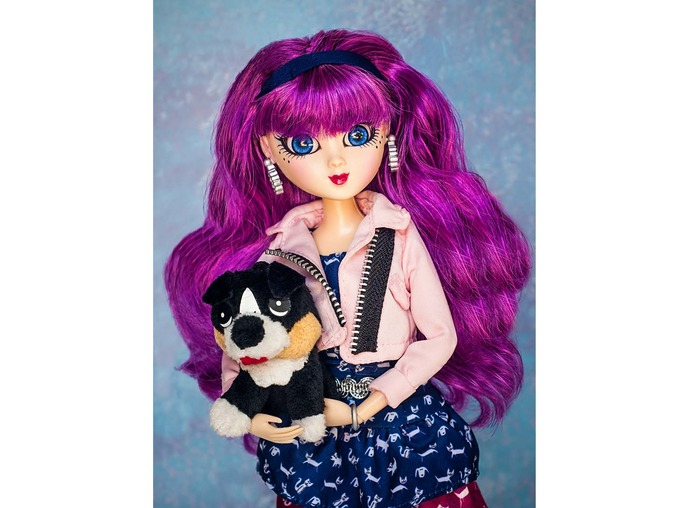 Sini with her pet dog Misty