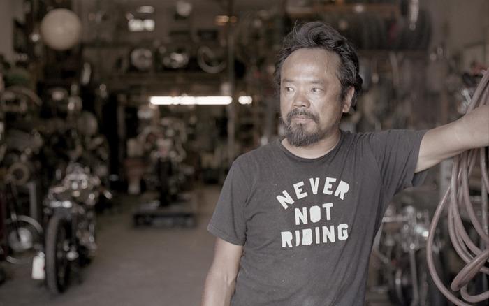 Shinya in his wonderful work shop